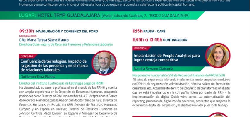 El 12º foro de Recursos Humanos de la provincia de Guadalajara tendrá lugar el 24 de abril