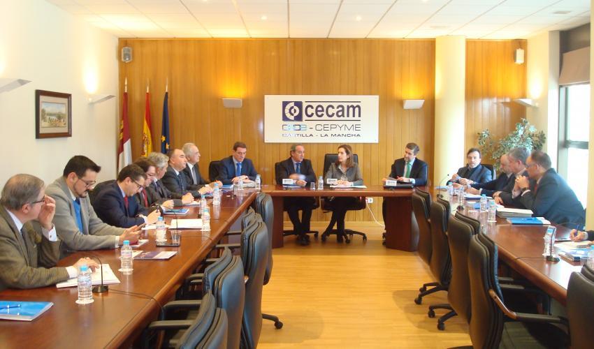 La Junta Directiva de CECAM traslada a la secretaria general de CEOE las preocupaciones de los empresarios de Castilla-La Mancha
