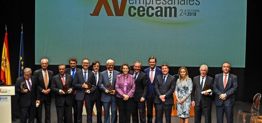 CECAM reconoce el papel imprescindible de los empresarios en sus XV premios empresariales