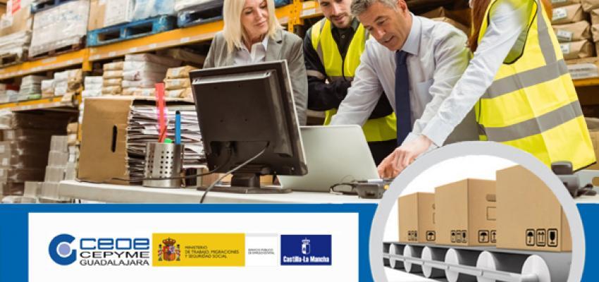 Últimas plazas para el curso de Organización y gestión de almacenes de CEOE-CEPYME Guadalajara
