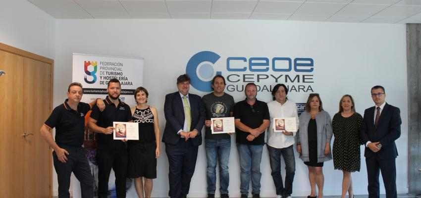 Entregados los premios del Maratón de pinchos de la Federación provincial de Turismo y Hostelería de Guadalajara