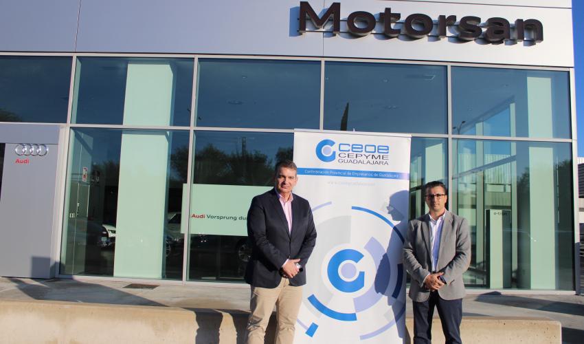 CEOE-CEPYME Guadalajara y Motorsan-Audi firman renuevan su convenio de colaboración