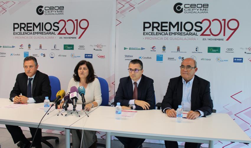 Finca Río Negro, empresa del año de los premios excelencia empresarial 2019 de CEOE-CEPYME Guadalajara