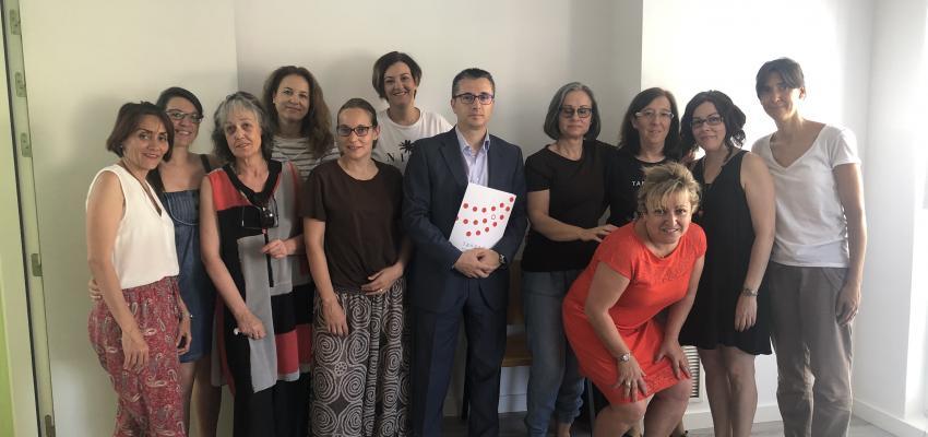 El secretario general de CEOE-CEPYME Guadalajara visita la lanzadera de empleo de Azuqueca de Henares