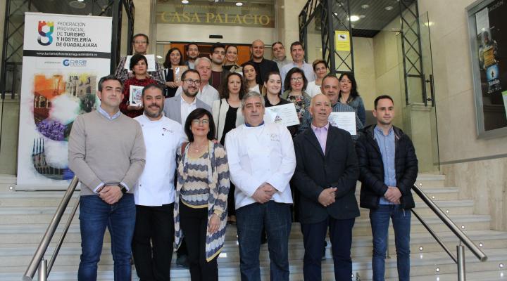 Entregados los premios del concurso de la ruta de la tapa de primavera 2019 de la Federación provincial de Turismo y Hostelería de Guadalajara