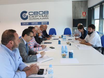 El Comité de Dirección de CEOE-CEPYME Guadalajara se reúne con los candidatos de AIKE para las elecciones municipales para trasladarles las demandas de los empresarios de Guadalajara