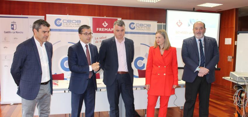 CEOE-CEPYME Guadalajara realiza, junto con Fremap, un taller sobre la aplicación de la norma ISO 45001