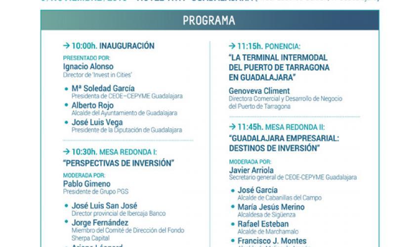 El II encuentro de inversión de Guadalajara se celebrará el próximo 6 de noviembre
