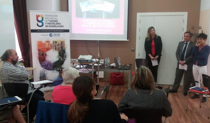 La federación provincial de Turismo y Hostelería de Guadalajara imparte cuatro cursos formativos con gran éxito de participación